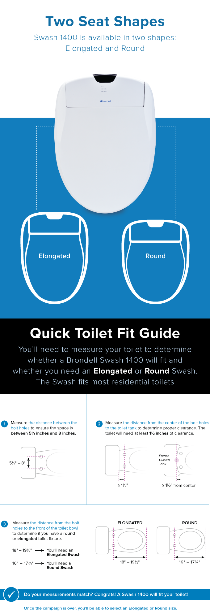 Brondell Swash Intelligent Electronic Bidet Toilet Seat