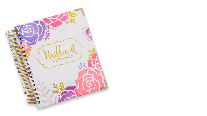 The Brilliant Life Planner is for every woman with great big dreams and and even bigger heart. 2018 Planners are available in the shop, with gorgeous new cover options.