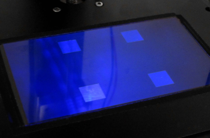 LCD Screen with UVC beam