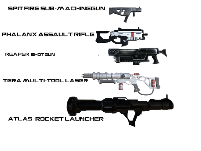 These are weapons currently in the game or planned to be completed in the coming weeks.