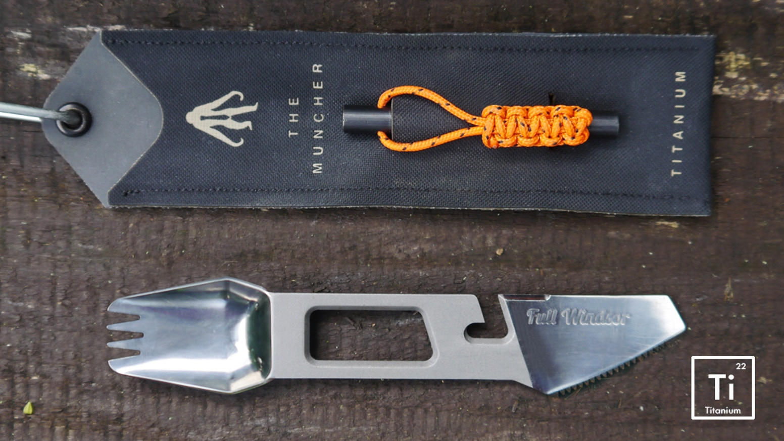 The world's most functional Camping Titanium Multi Utensil. Made from aerospace grade titanium weighing just 0.7oz / 20 grams.