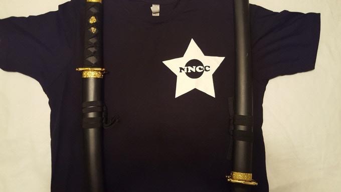 NNCC mens cut ninja slim fit t-shirt (front)