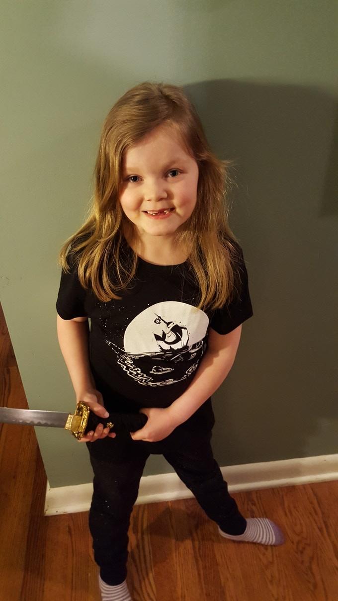 NNCC ladies cut ninja slim fit t-shirt (front)