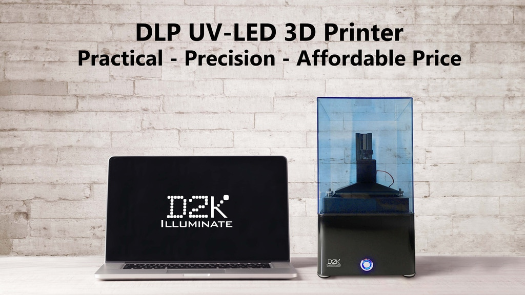 Affordable DLP 3D Printer - Amazing 2K Resolution project video thumbnail