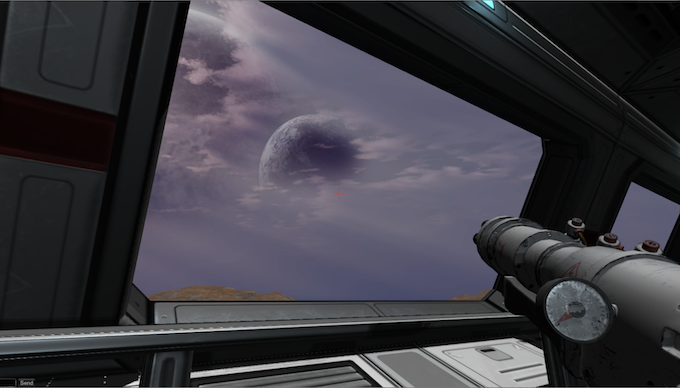 View from inside a territory Control Building. Terran Players can use these as HQs for each sector.