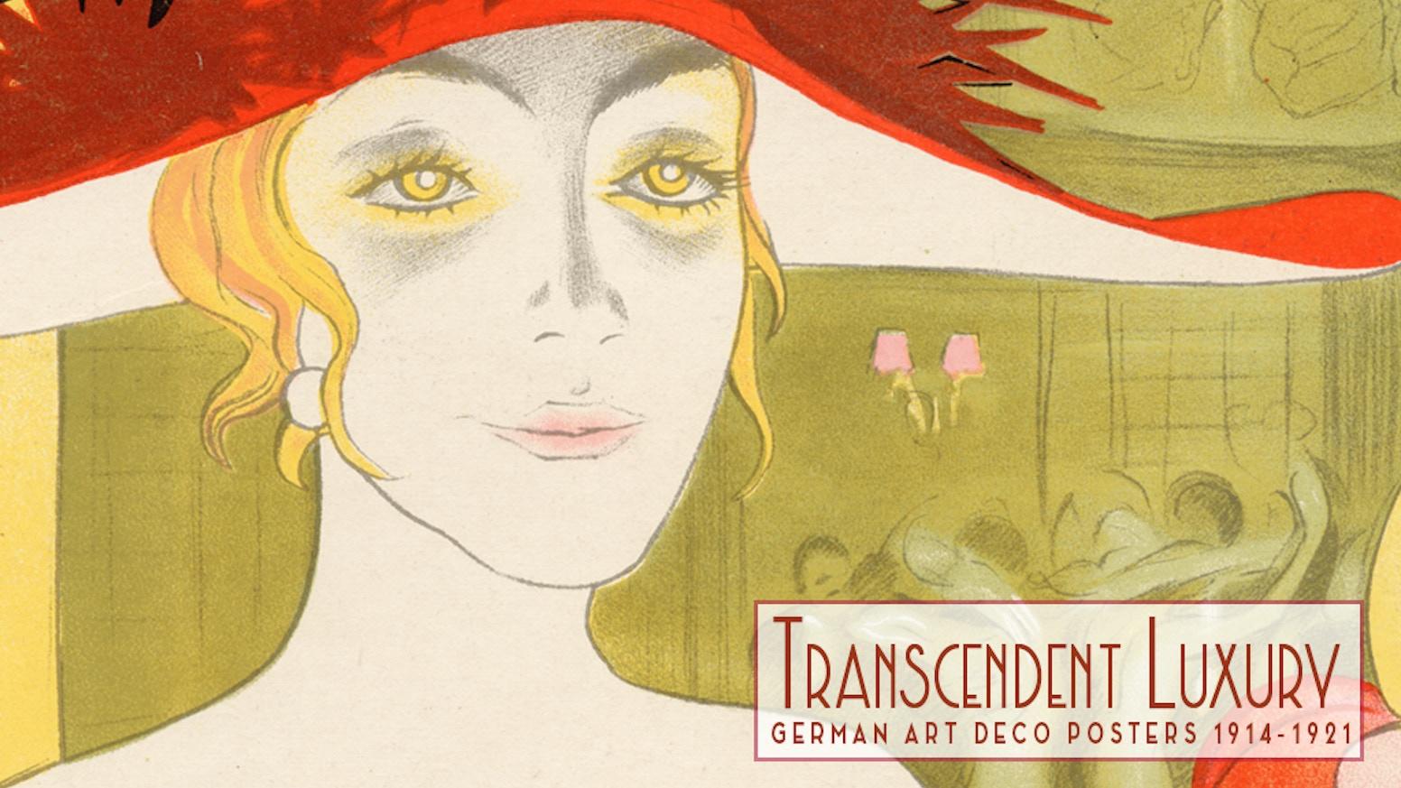Rare German Art Deco Poster Masterpieces 1914-1921 by Thomas Negovan