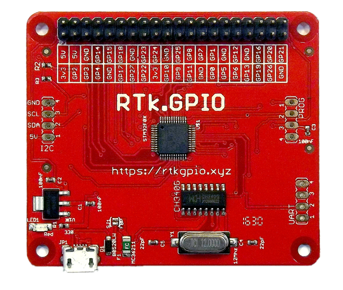 RTK GPIO, a USB Raspberry Pi Compatible GPIO Header by Ryanteck LTD