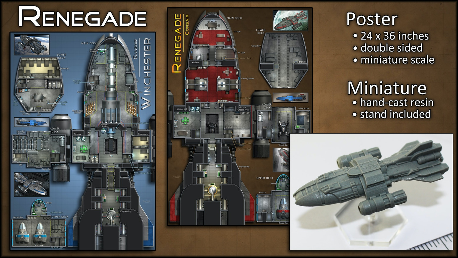 Renegade Starship Map Poster Amp Miniature By Ryan Wolfe