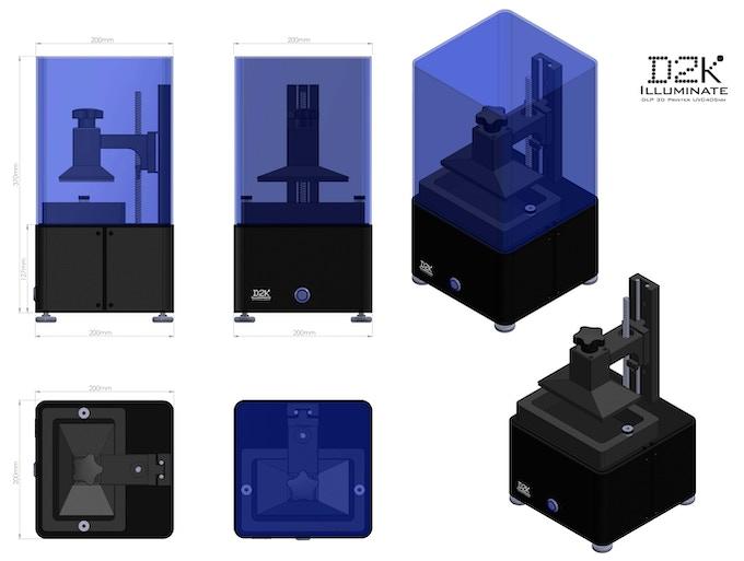 Device Size: 200 x 200 x 370mm