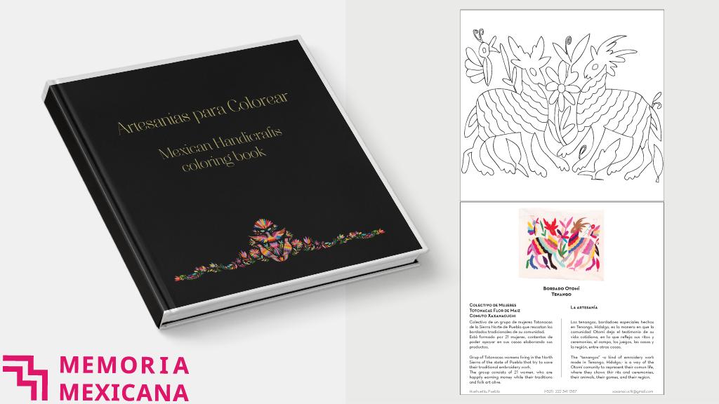 Artesanías para colorear / Mexican Handcrafts coloring book by Jorge ...