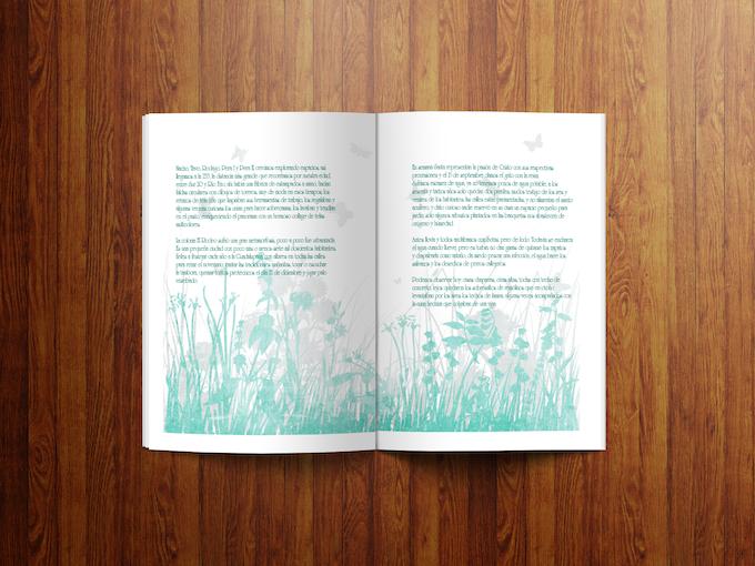 Los textos están acompañados por bellas imágenes originales, que inspiran la imaginación