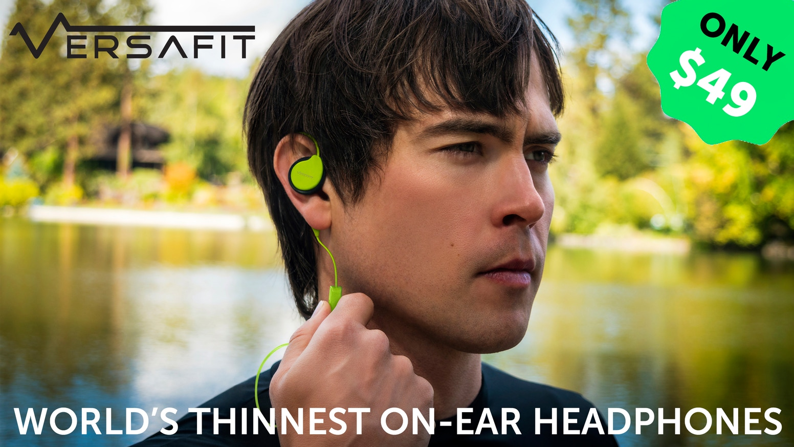 Incredibly thin, infinitely adjustable on-ear wireless headphones that fit under helmets and allow you to hear the world around you.