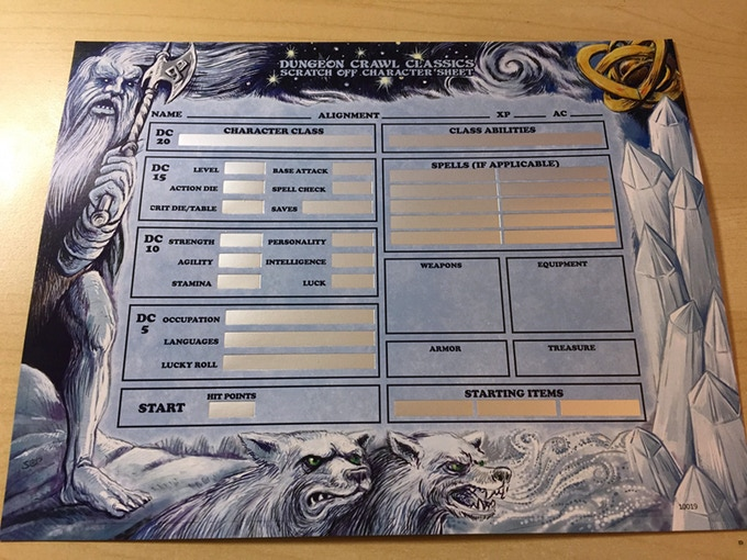 A photograph of the advance copy of the scratch-off character card