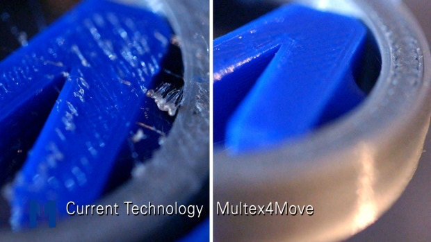 Oozing-free 3D-Prints with  Multex4Move