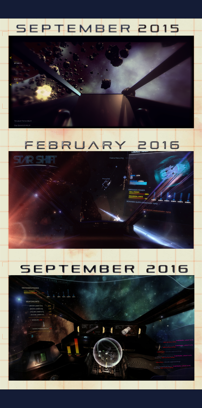 The game graphic evolution, in a single year.