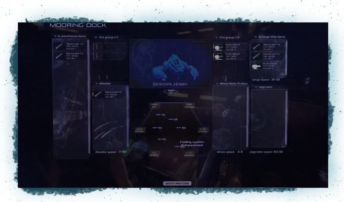 The fitting ships menu