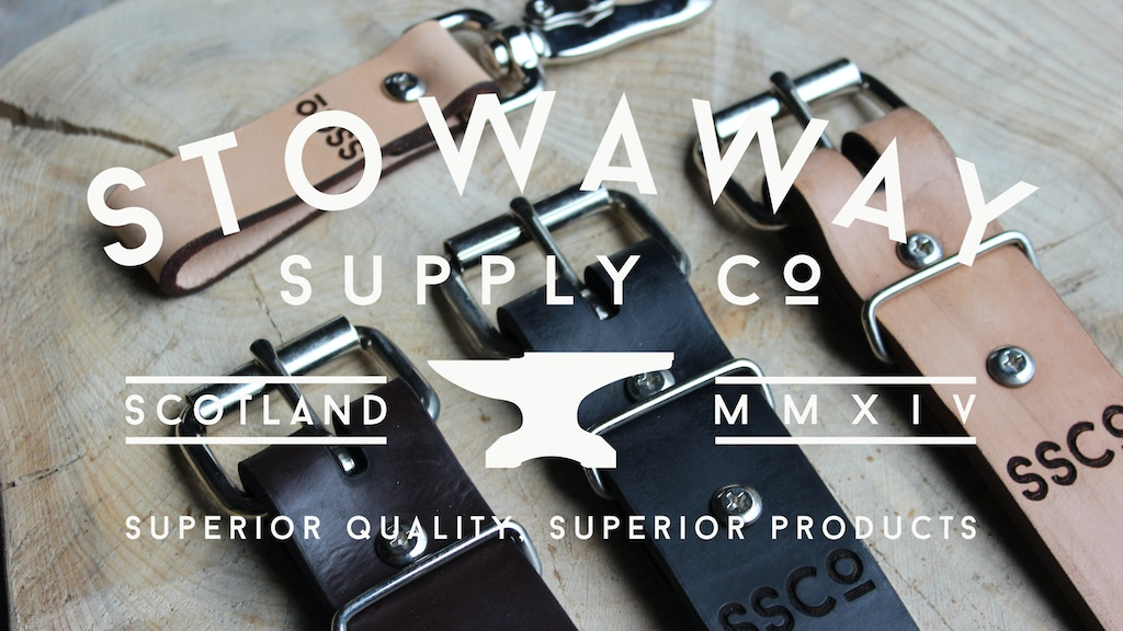 Stowaway Supply Co - Leather Belts and Accessories project video thumbnail