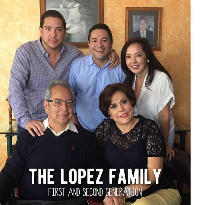 Relation to team - Top row: Alejandro (uncle), Ricardo (uncle), Ana Celina (mother). Bottom row: Ricardo Sr. (grandfather), Ana (grandmother)