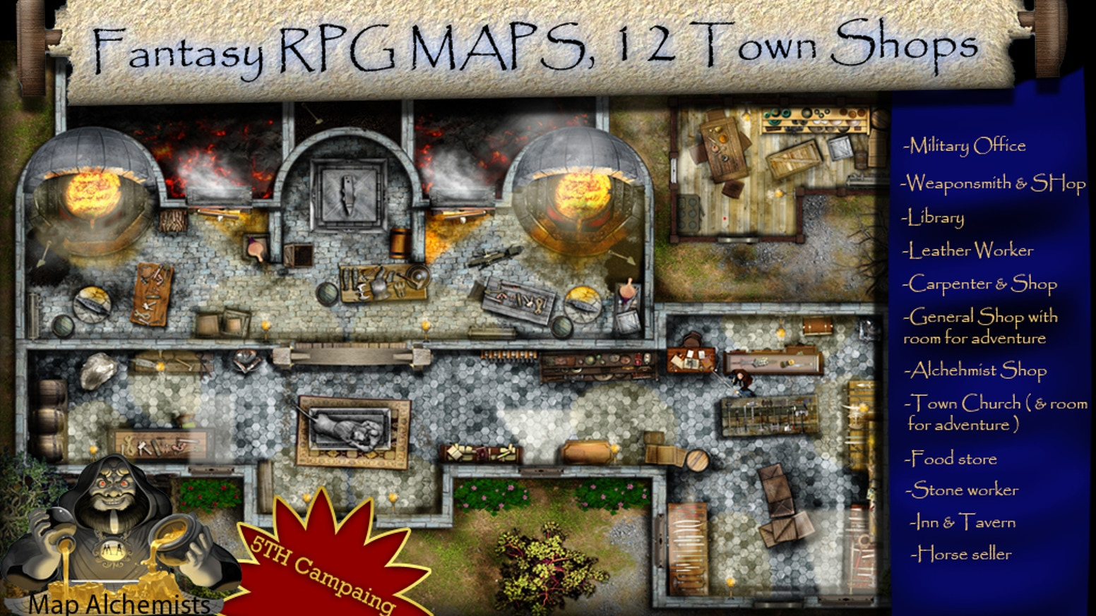 Hi Guys , I am Back for some new stuff! In this campaign  you will find your most popular shops in order to create you're own Town.