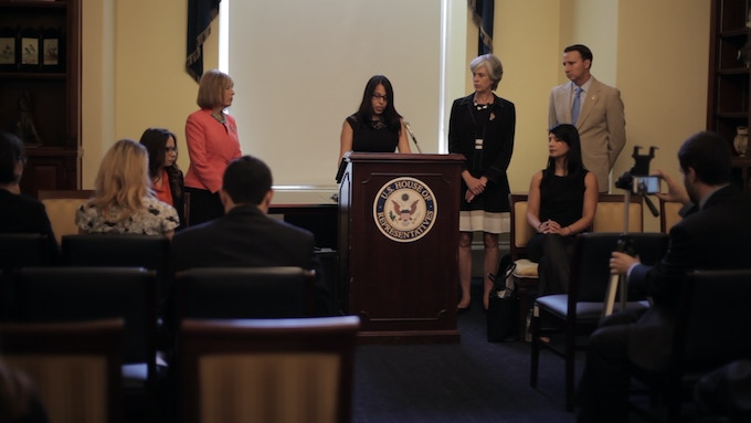 Anisha speaking on Capitol Hill for the introduction of the Intimate Privacy Protection Act