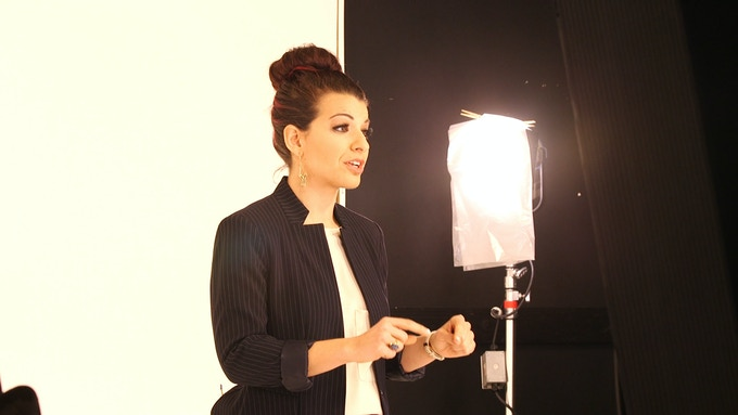 "Anita Sarkeesian on the set of ""Ordinary Women"""