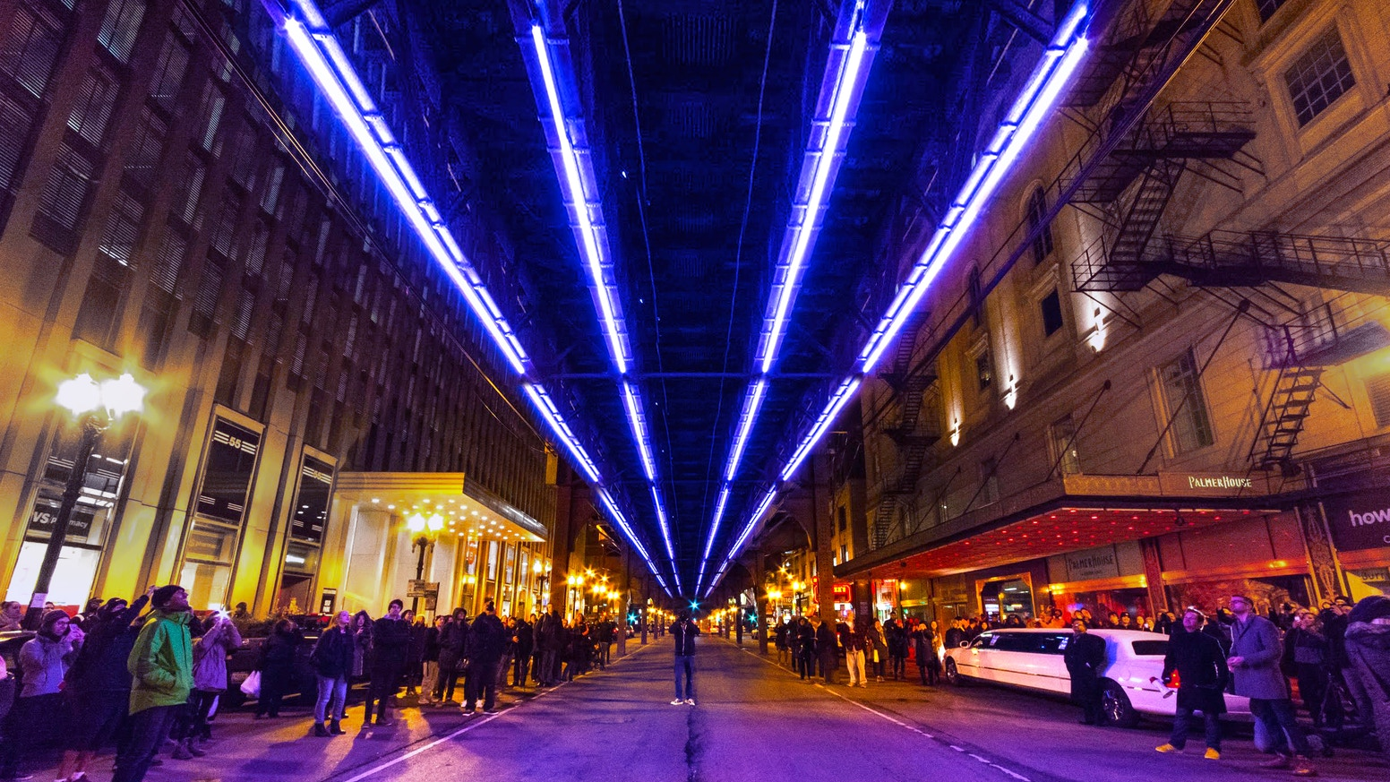 The biggest piece of public art in Chicago's history - an interactive light sculpture under the Wabash L tracks, designed by you.