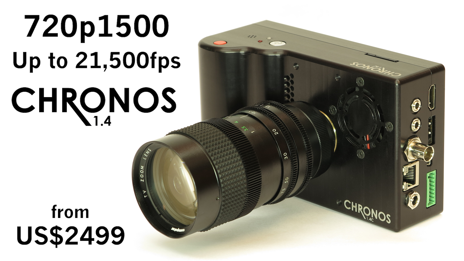 A REAL high-speed camera you can actually afford! 720p 1,500fps in the palm of your hand. Now in stock!