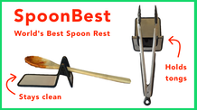 SpoonBest: Elevates Kitchen Utensils & Holds Tongs Perfectly