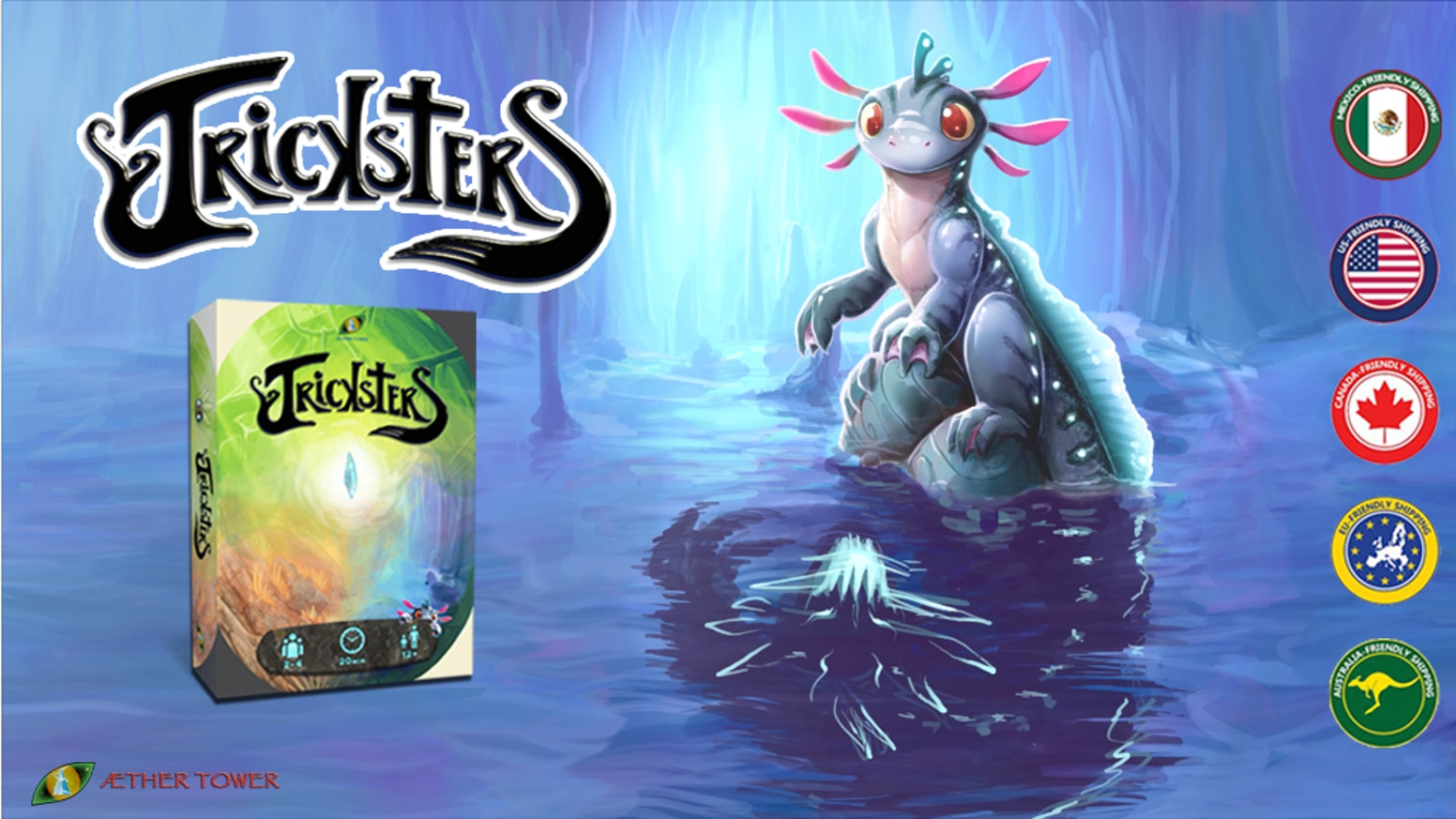 A fast paced card game for 1-8 players. First Mexican boardgame successfully funded.