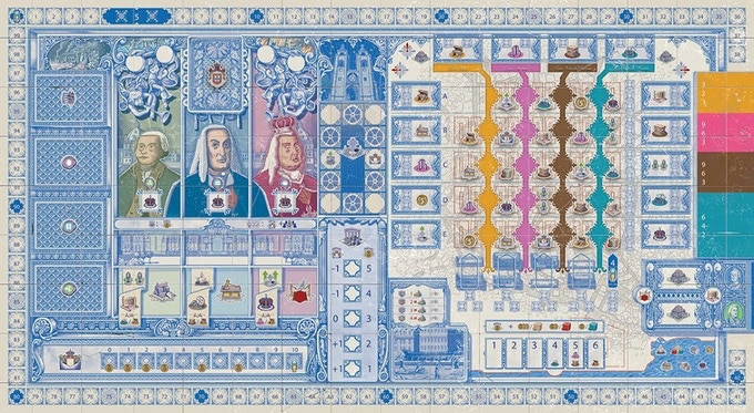 The full gameboard for Lisboa