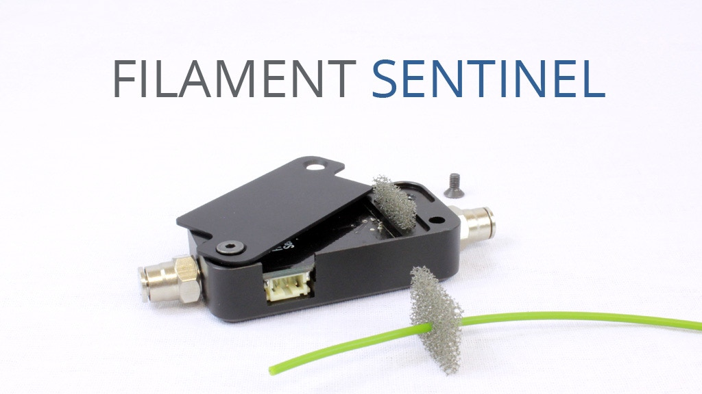 SENTINEL : 3D printer filament detector and cleaner project video thumbnail