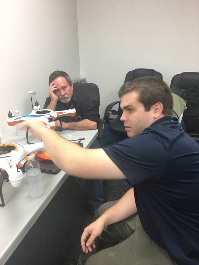 Dan and Jeff working on the newer AguaDrone prototypes. Cheer up, Dan, we're almost there!
