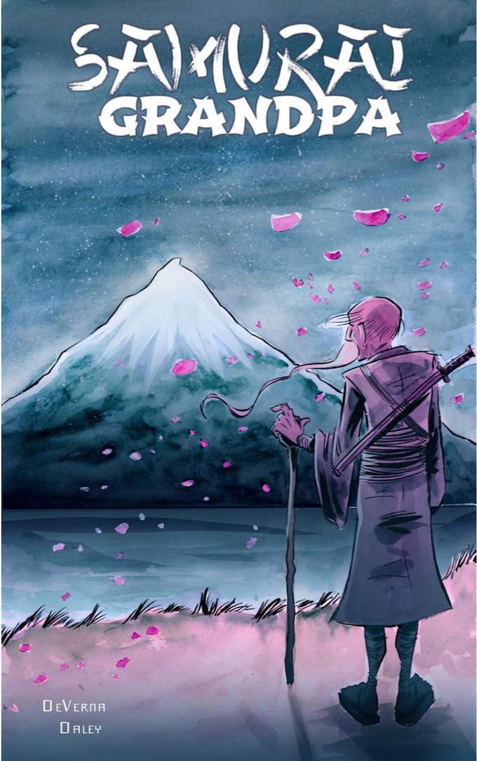 Samurai Grandpa Graphic Novel Cover