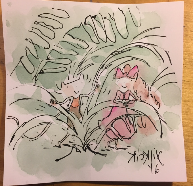 Musnet watercolor drawing example.