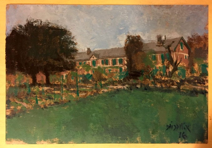 Oil painting example. Monet's House, Giverny, France.