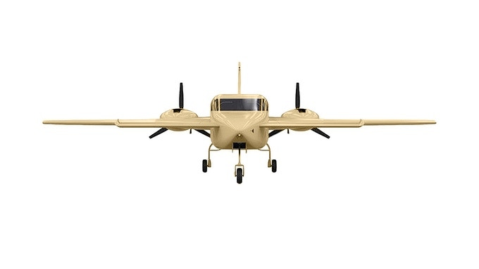 The World's First Hemp Plane 3D Image Front View