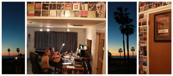 Yoko and Marty Rifkin in the studio