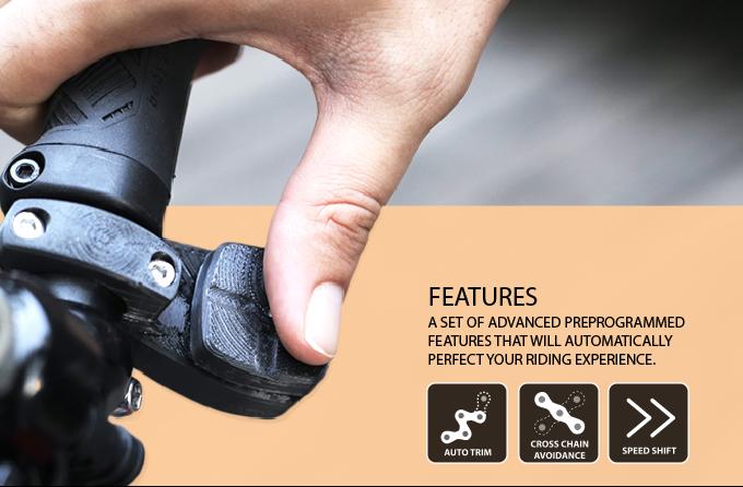 e960854b89e Auto trim: Keeps adjusting your front derailleur ensuring minimum chainrub.