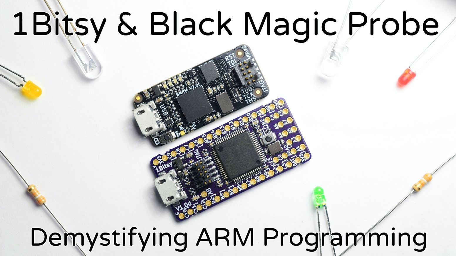 1Bitsy is a user friendly open-source ARM Cortex-M4F Development Platform and Black Magic Probe is a Plug & Play JTAG/SWD ARM debugger.