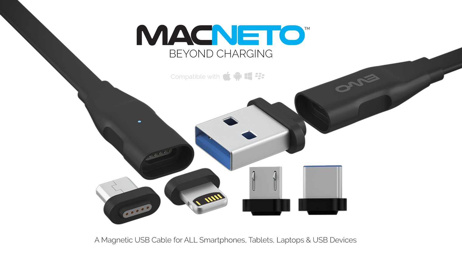 MACNETO: World\'s 1st Multi-Device Compatible Magnetic Cable by EWO ...