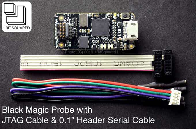 Black Magic Probe V2.0 with JTAG and Serial Cables