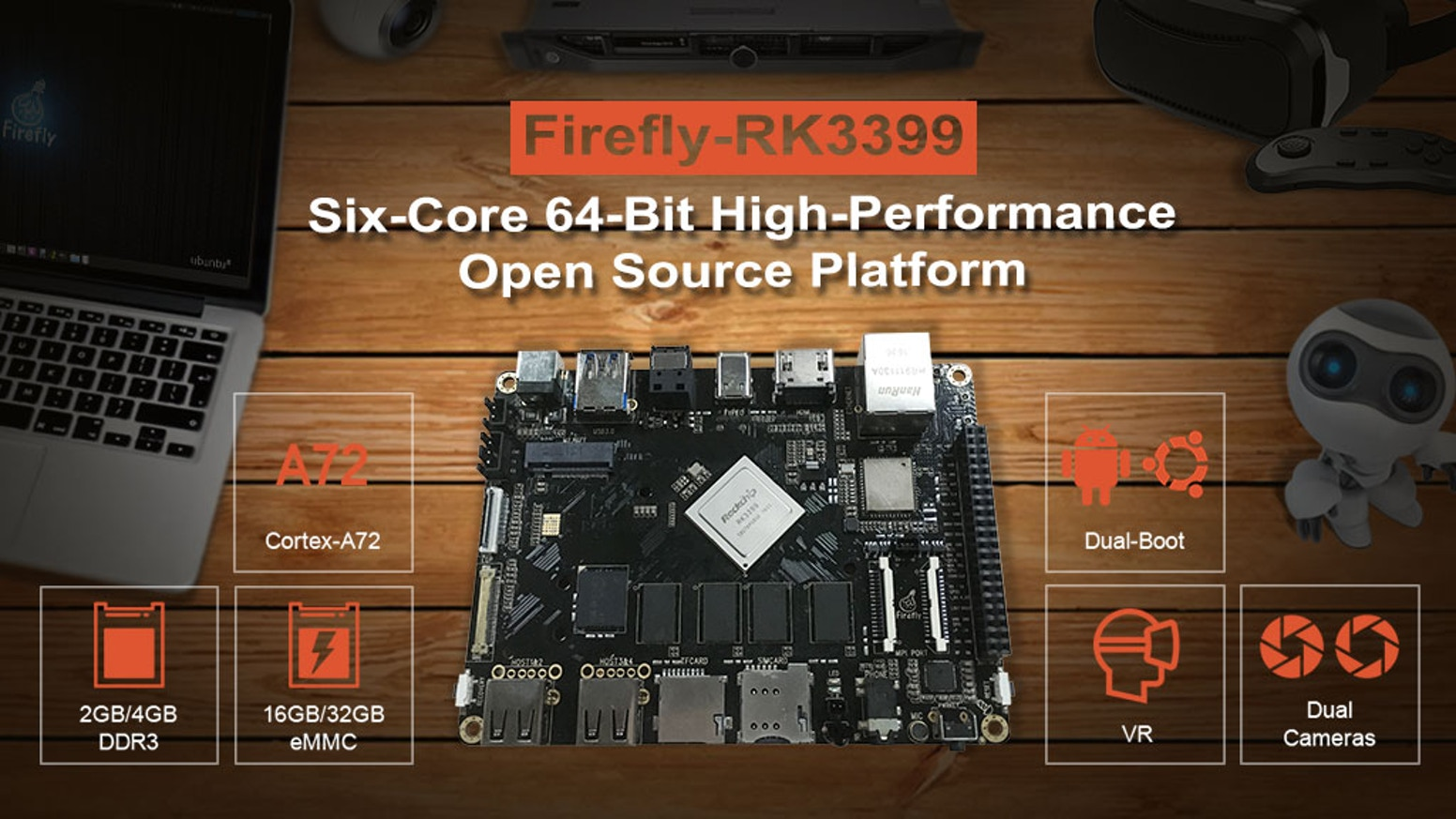 Firefly Rk3399six Core 64 Bit High Performance Platform By Circuit Board Picture Frame Geek Armory With Dual Cortex A72 And Quad A53 Arm