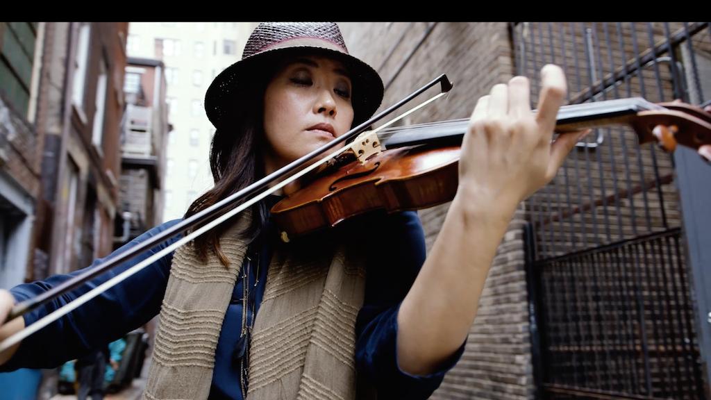 Violinist Machiko Ozawa records her first solo album project video thumbnail