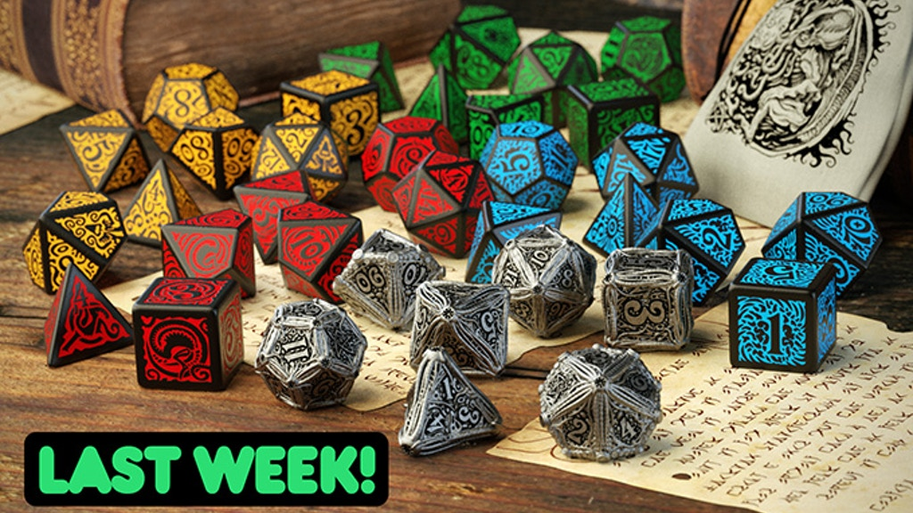 Call of Cthulhu Metal Dice Set by Q-workshop & Chaosium project video thumbnail