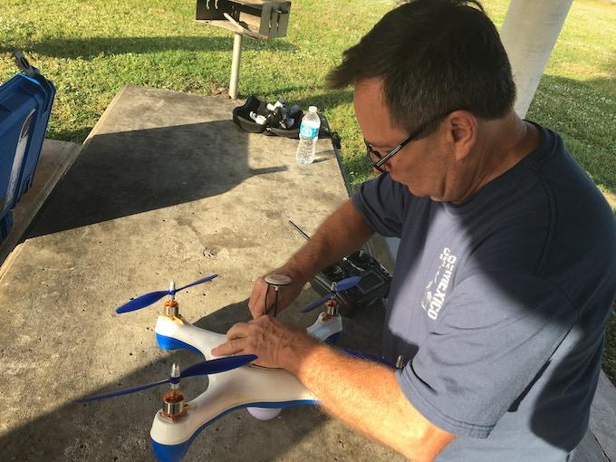 Dan doing more field tests. Different park, different prototype, same Dan :)