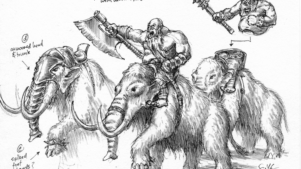 10mm Ogre Mammoth Riders from Black Gate Miniatures project video thumbnail