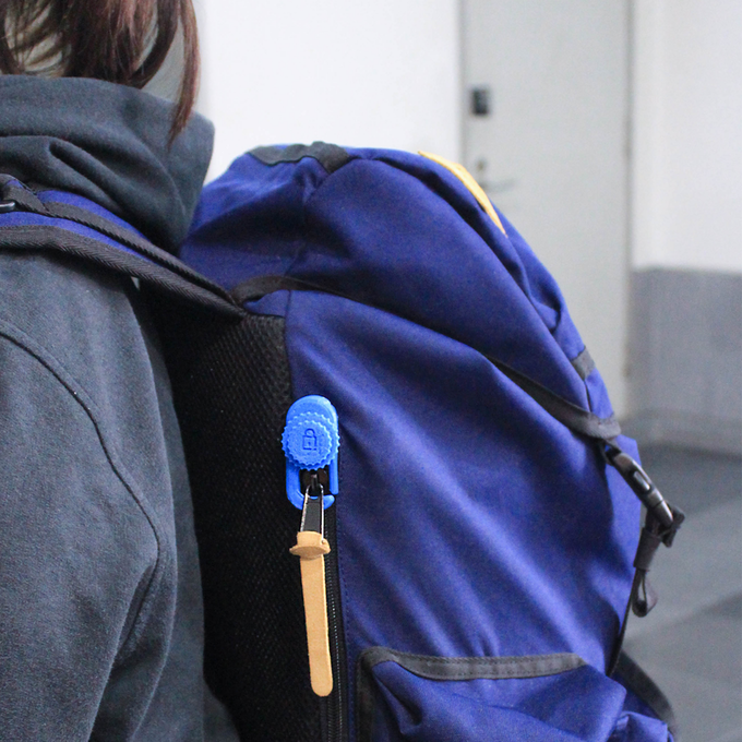 The Peary Lock secures your single slider zippers