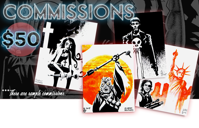 Awesome custom ink commissions by the Fillbach Brothers!