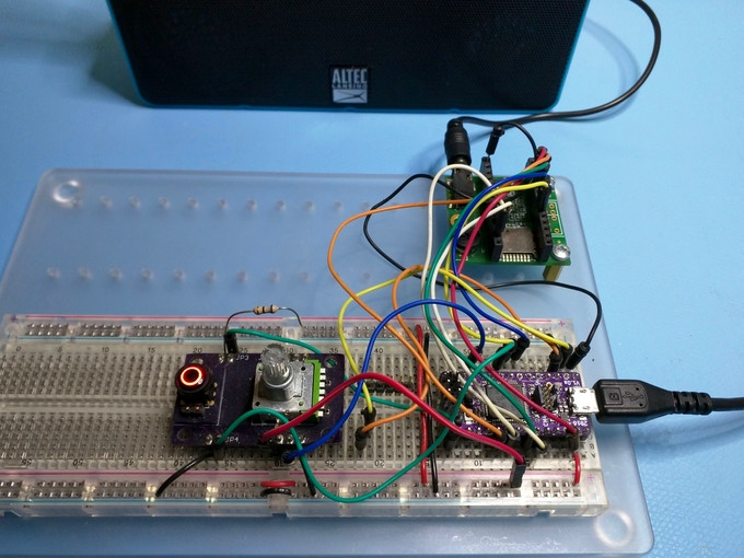 Warbler by Bob Miller - 1Bitsy driving the Teensy Audio Adapter Board DAC