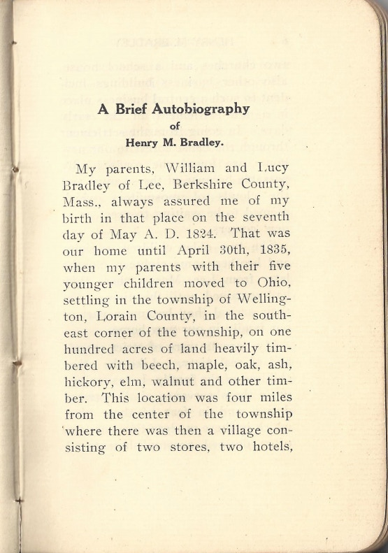 First Page of Henry's Autobiography of 1907